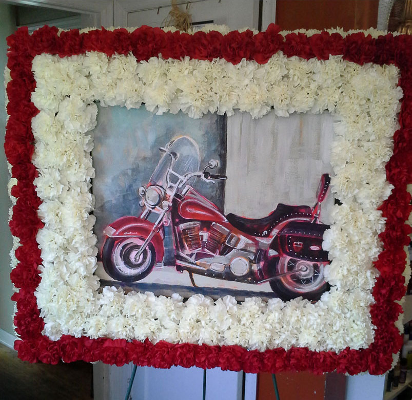 RIP-fresh-red-white-carnations-motorcycle-memeorial