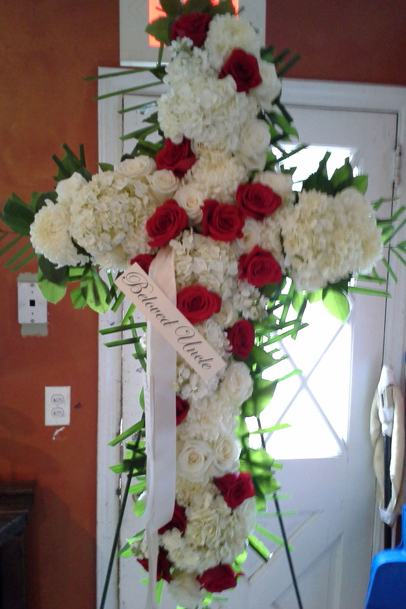 carnations-red-white-roses-hydrangea-cross-beloved-uncle