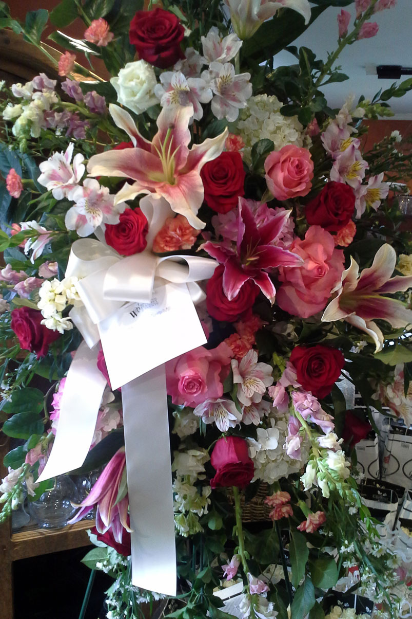 fresh-flowers-lillies-roses-cherry-blossoms-memorial