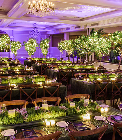 event wedding reception green fresh flowers