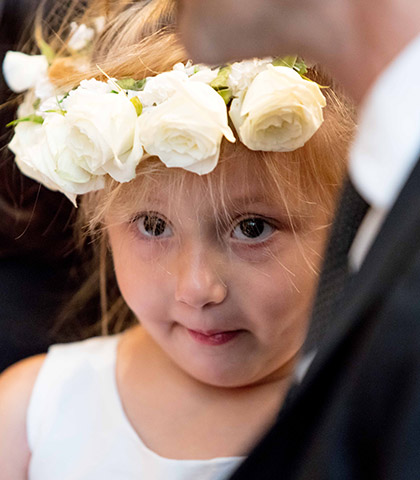 wedding flower girl crown