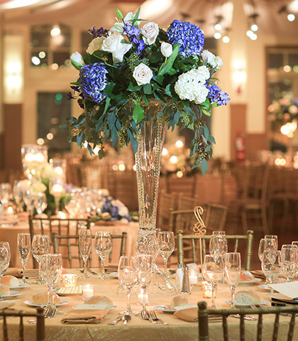 wedding reception flower centerpiece