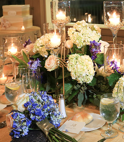 wedding reception floral centerpiece bouquet