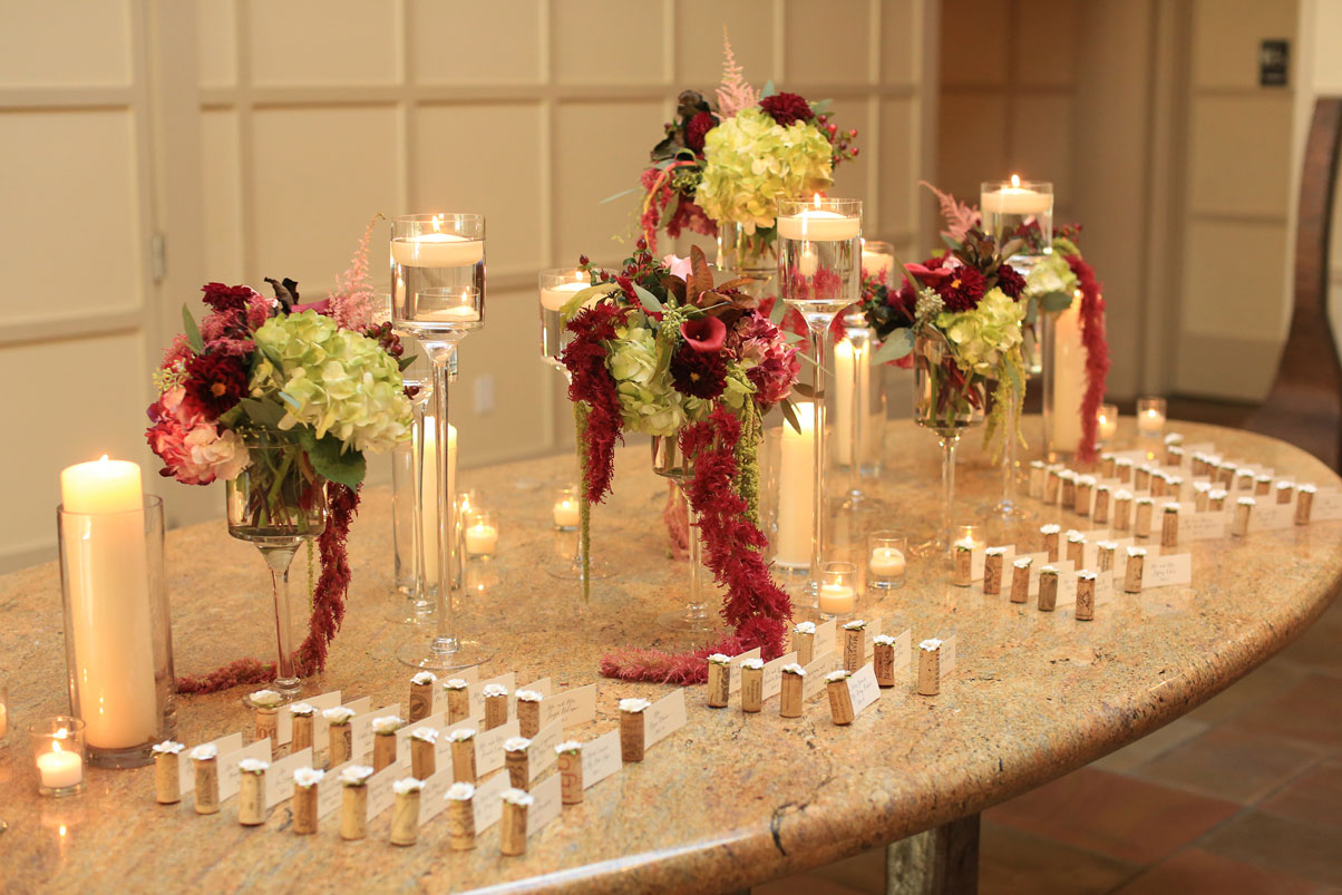 cork-flowers-name-cards-candles